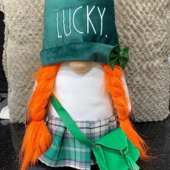 Rae Dunn LUCKY Girl Gnome St. Patrick's Day